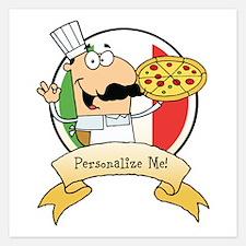 Italian Pizza Chef Invitations