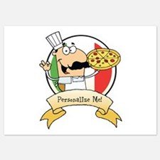 Italian Pizza Chef Invitations