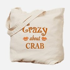 Crazy About Crab Tote Bag