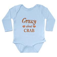 Crazy About Crab Long Sleeve Infant Bodysuit