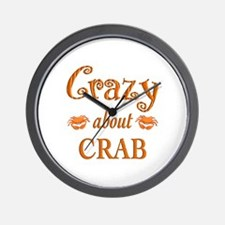 Crazy About Crab Wall Clock