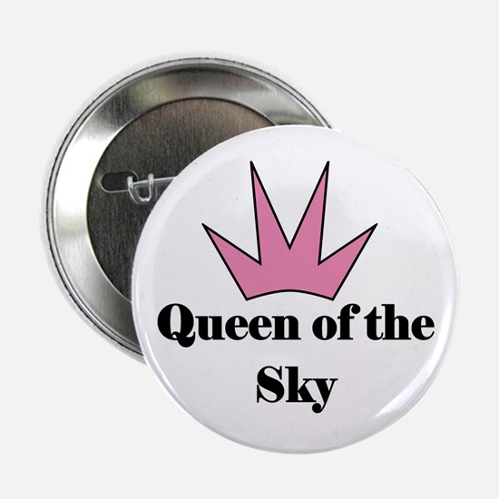 Queen of the Sky (pink) Button