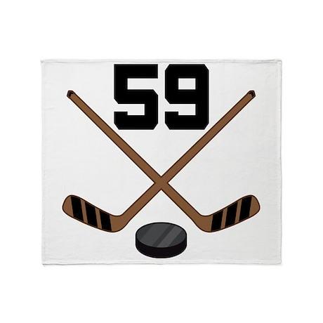 Hockey Player Number 59 Throw Blanket