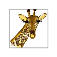 "Giraffe - ZooWhirlz Square Sticker 3"" x 3"""