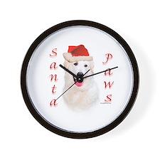 Santa Paws Kuvasz Wall Clock