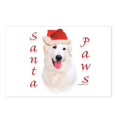 Santa Paws Kuvasz Postcards (Package of 8)