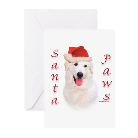 Santa Paws Kuvasz Greeting Cards (Pk of 10)