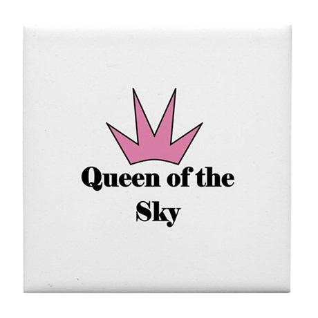 Queen of the Sky (pink) Tile Coaster