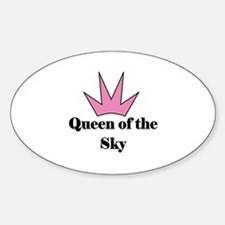 Queen of the Sky (pink) Oval Decal