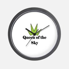 """Queen of the SKy"" (lime) Wall Clock"
