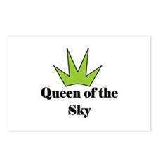 """Queen of the SKy"" (lime) Postcards (Package of 8)"
