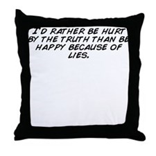 Cute The truth hurts Throw Pillow