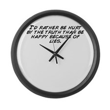 Funny The truth hurts Large Wall Clock