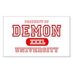Demon University Halloween Rectangle Sticker