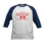 Demon University Halloween Kids Baseball Jersey