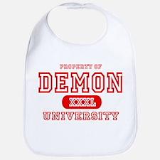 Demon University Halloween Bib
