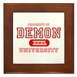 Demon University Halloween Framed Tile