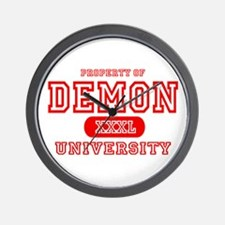 Demon University Halloween Wall Clock
