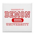 Demon University Halloween Tile Coaster