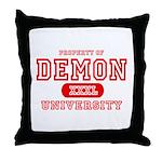 Demon University Halloween Throw Pillow