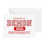 Demon University Halloween Greeting Cards (Package