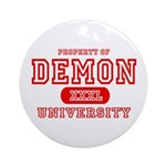 Demon University Halloween Ornament (Round)