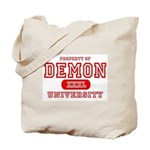 Demon University Halloween Tote Bag