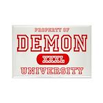 Demon University Halloween Rectangle Magnet (10 pa
