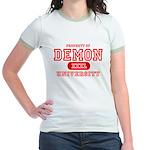 Demon University Halloween Jr. Ringer T-Shirt