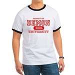 Demon University Halloween Ringer T