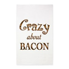 Crazy About Bacon 3'x5' Area Rug