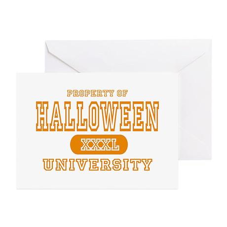 Halloween University Greeting Cards (Pk of 10)