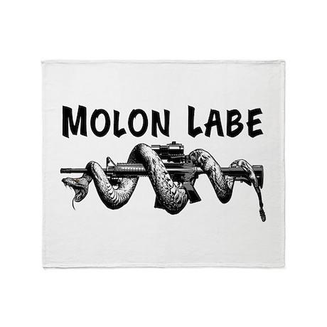 Molon Labe AR15 Throw Blanket