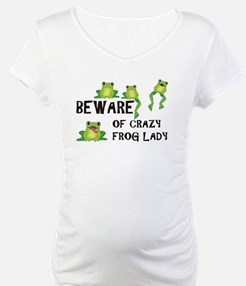 Beware of Crazy Frog Lady Shirt