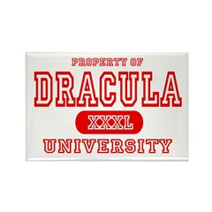 Dracula University Vampire Rectangle Magnet (10 pa