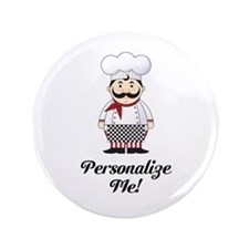 "Personalized French Chef 3.5"" Button"