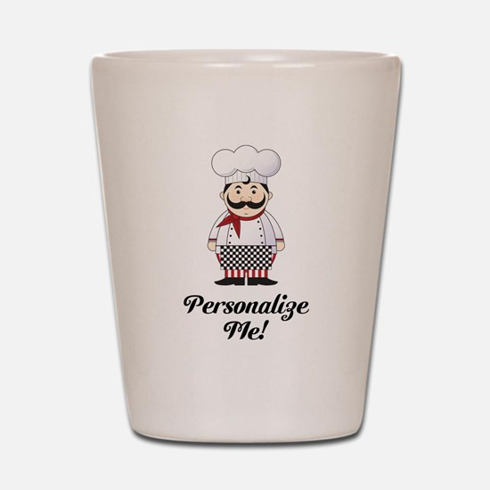 Personalized French Chef Shot Glass