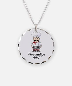 Personalized French Chef Necklace