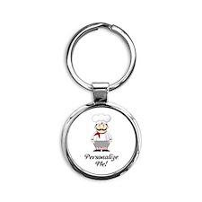 Personalized French Chef Round Keychain