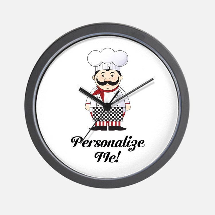 Personalized French Chef Wall Clock