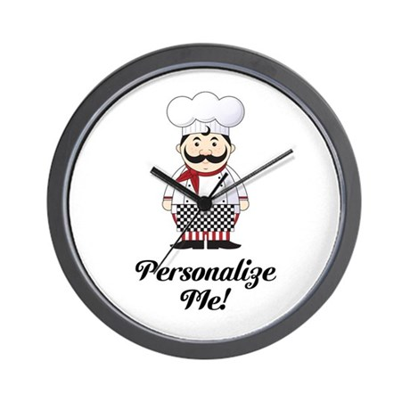 french chef wall clock