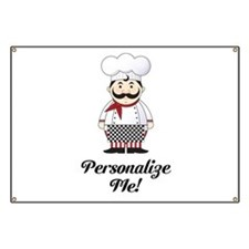 Personalized French Chef Banner