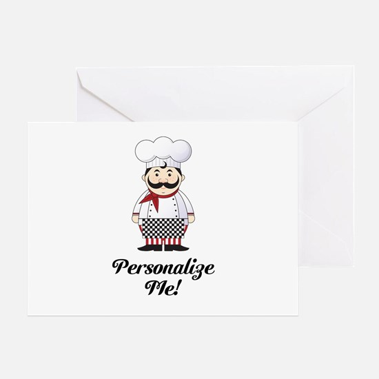 Personalized French Chef Greeting Card
