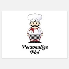 Personalized French Chef 5x7 Flat Cards