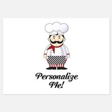 Personalized French Chef Invitations