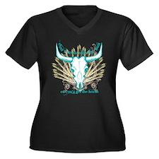 The Bull Women's Plus Size V-Neck Dark T-Shirt
