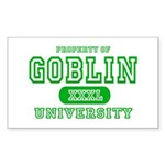 Wicked Witch University Halloween Sticker (Rectang