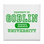 Wicked Witch University Halloween Tile Coaster