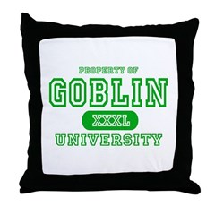 Wicked Witch University Halloween Throw Pillow