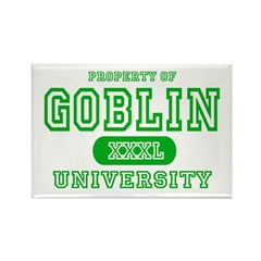 Wicked Witch University Halloween Rectangle Magnet